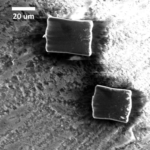 MOF-5 crystals supported on a graphite-coated alumina disc