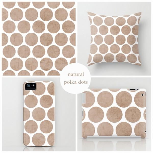 natural polka dots