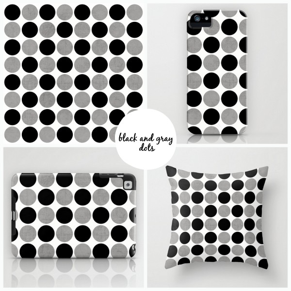 gray and black dots