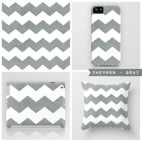 chevron - gray