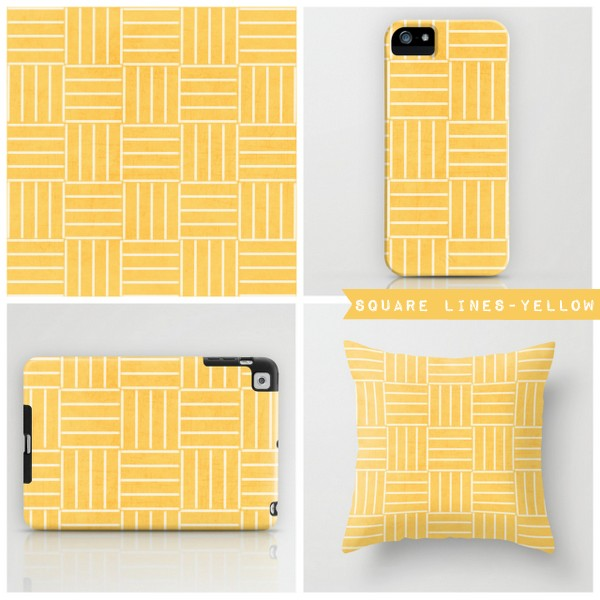 square lines-yellow