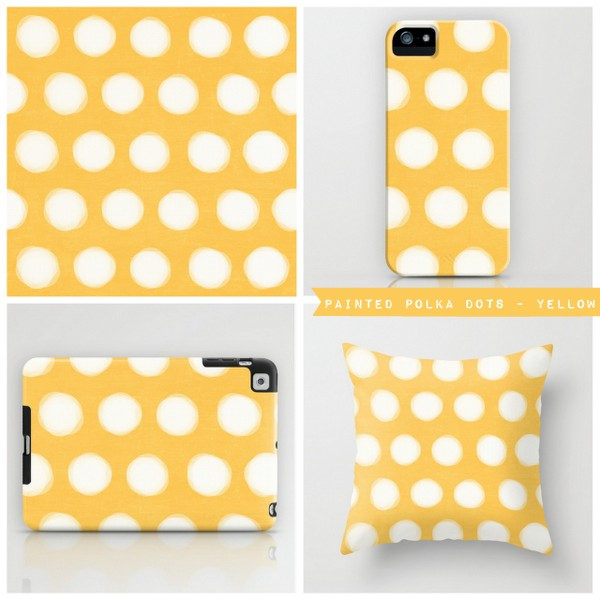 painted polka dots - yellow