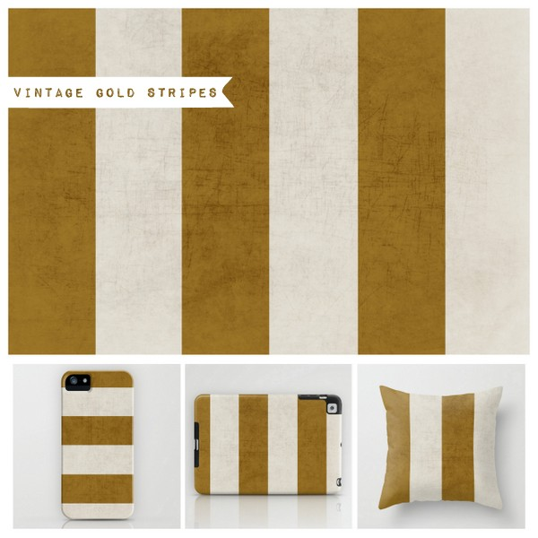 vintage gold stripes