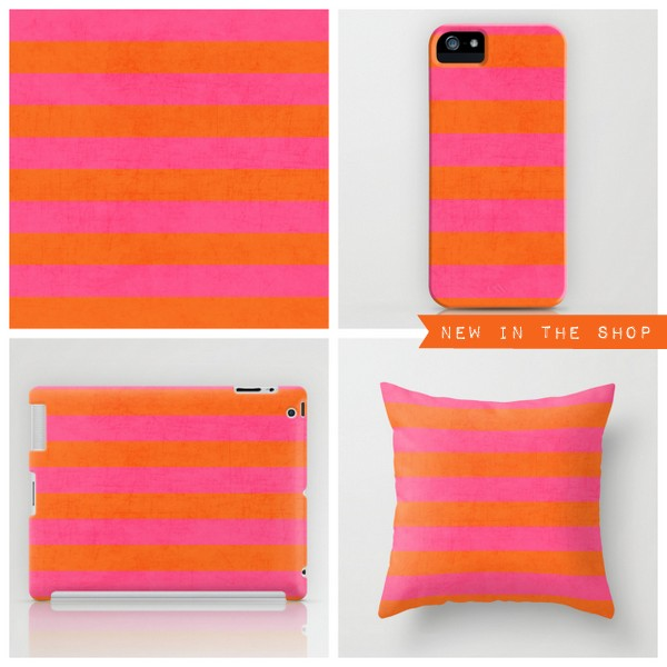 hot pink and orange stripes