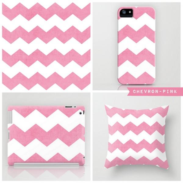chevron - pink
