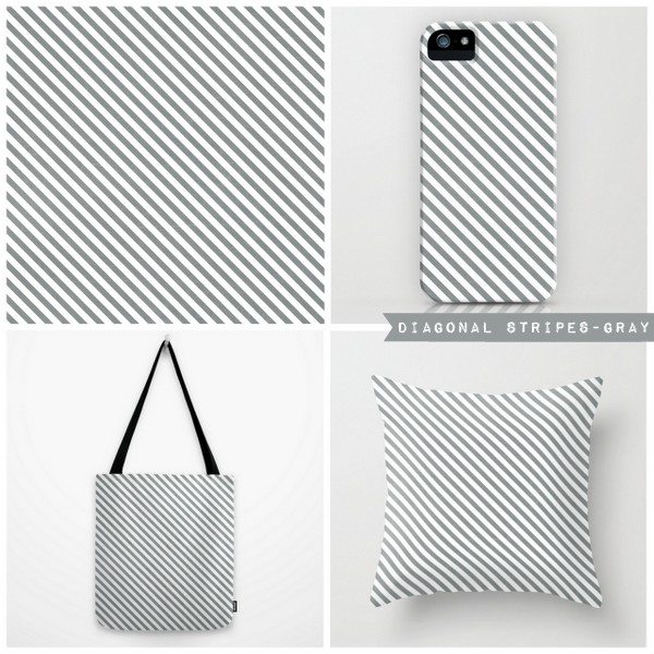 diagonal stripes-gray