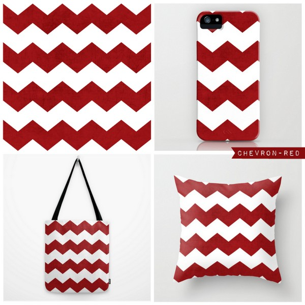 chevron - red