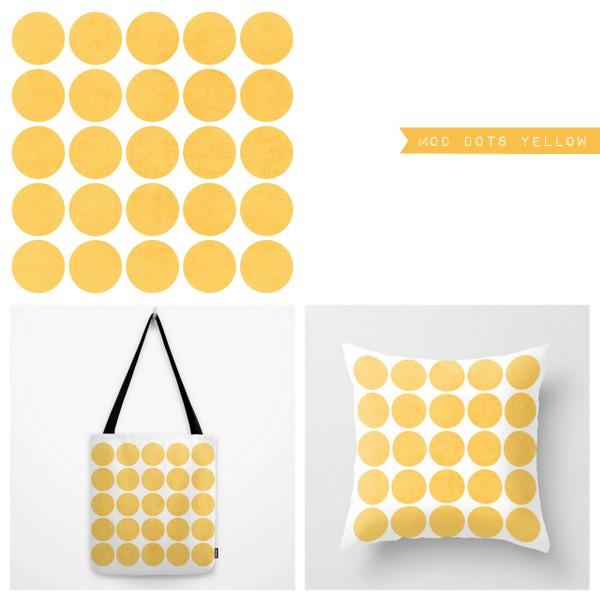 mod dots yellow