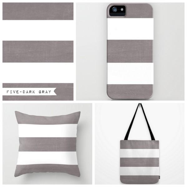 five - dark gray