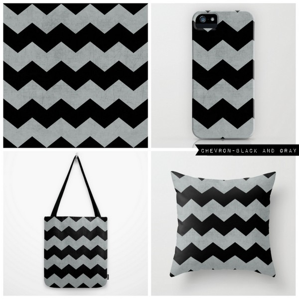 chevron - black and gray
