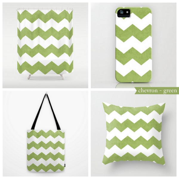 chevron - green