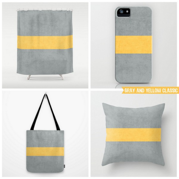 gray and yellow classic