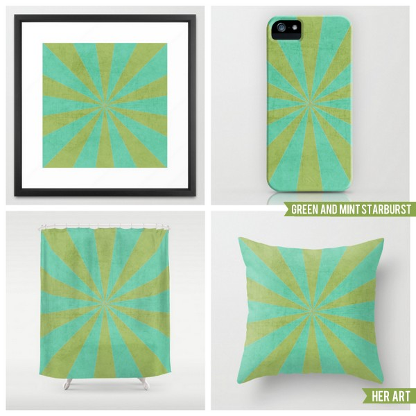 green and mint starburst