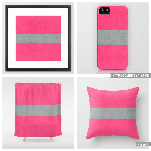 hot pink and gray classic
