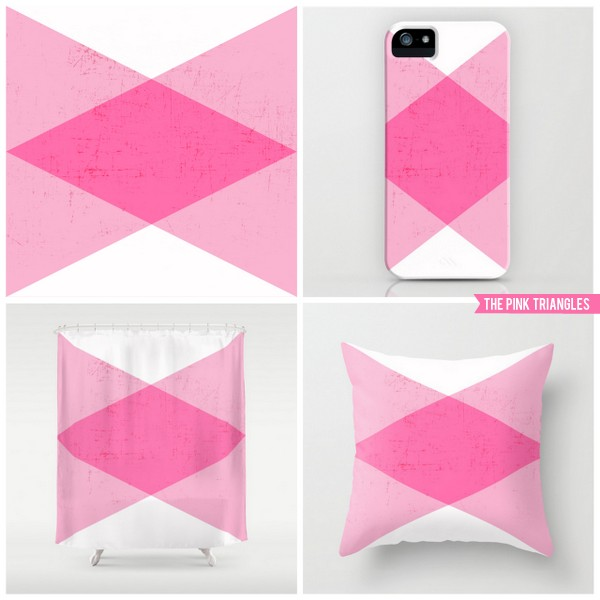 the pink triangles