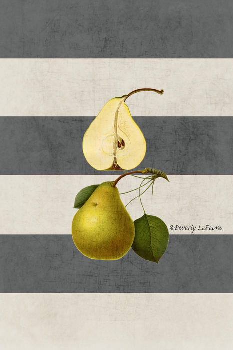 botanical stripes - pear