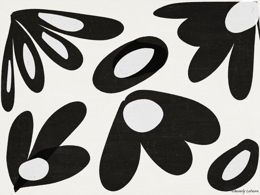 ink flower petals