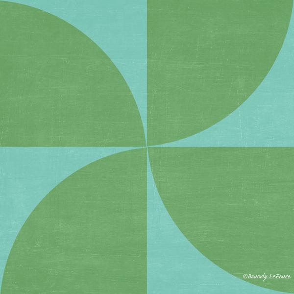 mod petals - teal and green