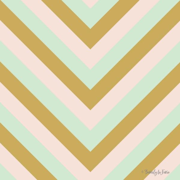 v lines - mint mocha