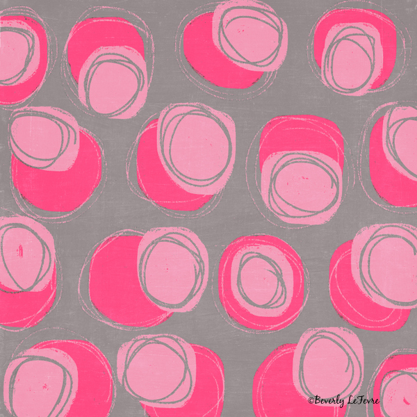 pink stones modern art print