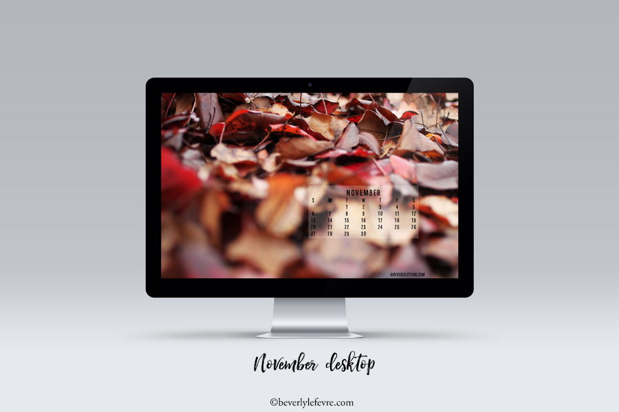 November desktop and smartphone wallpaper by Beverly LeFevre