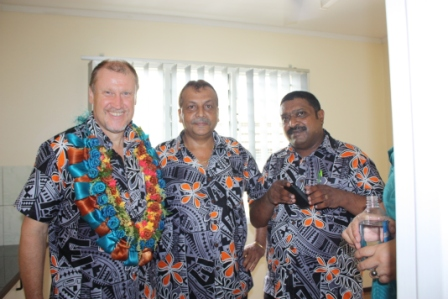 Mr Glen Miles, Mr Vishnu Deo, and Mr Patrick Morgam (CEO Empower Pacific) .