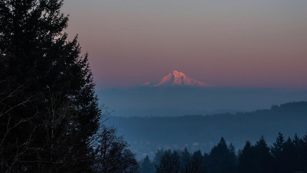 Mt Hood Sunset | 365 Project | Jan 12th, 2013