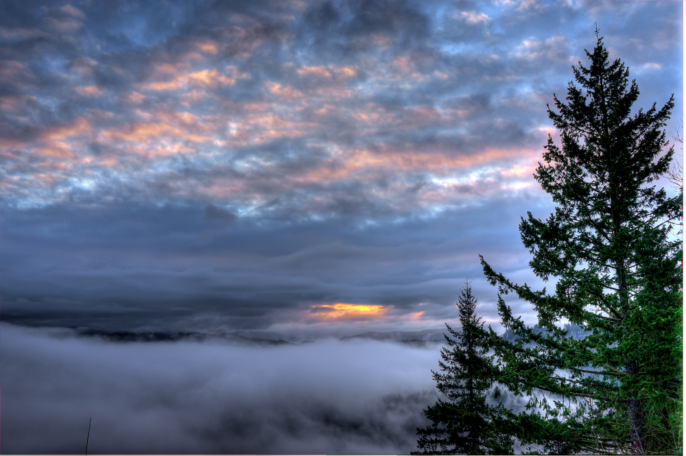 Sandy River Foggy Sunrise | 365 Project | Feb 17th, 2013  Downloads |  Desktop  |  iPad