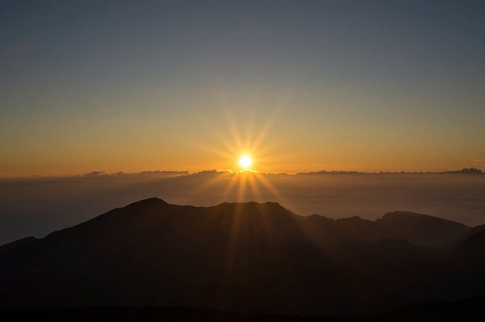Haleakala Sunrise | 35mm,  f/13, ISO 100, 1/60