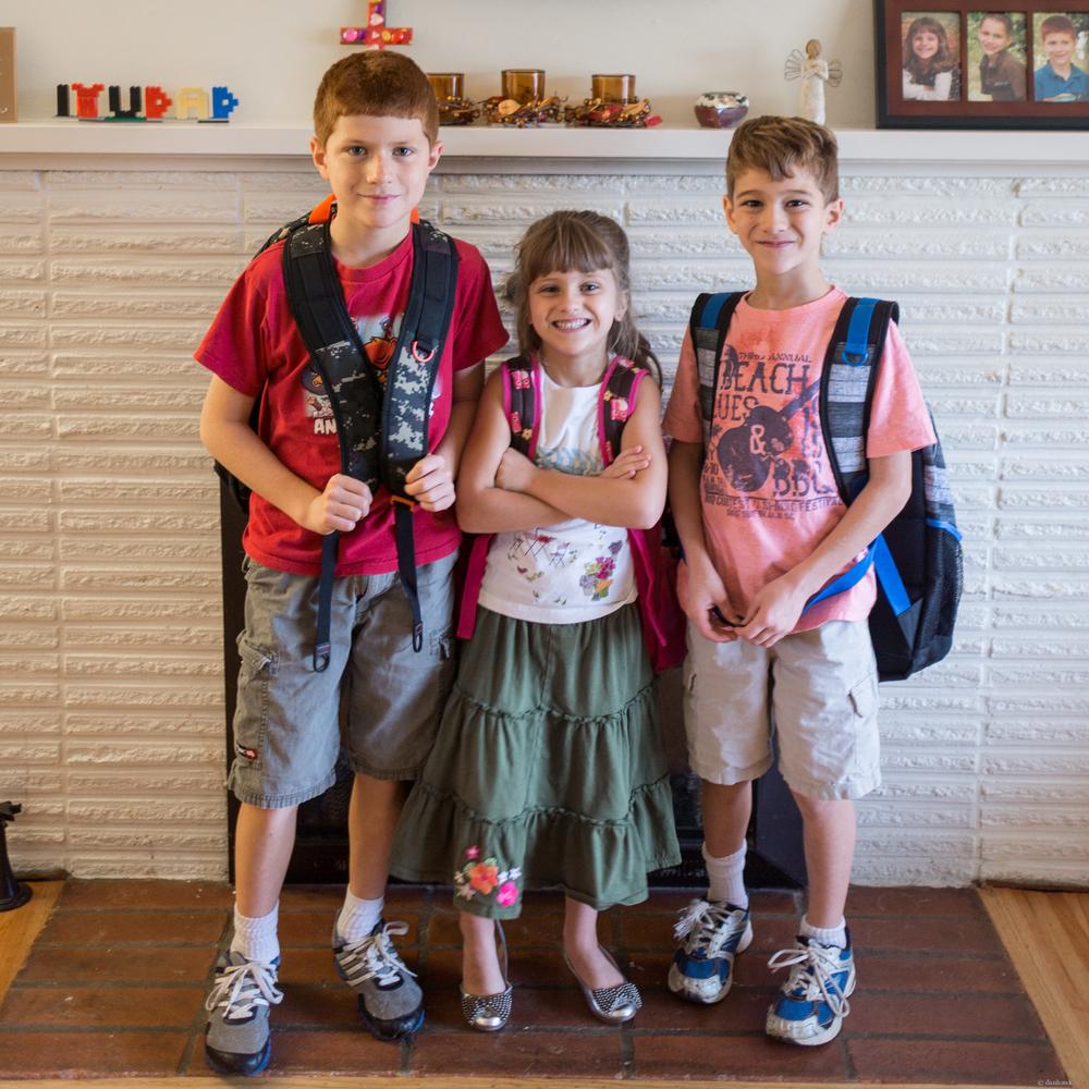 All Three in School