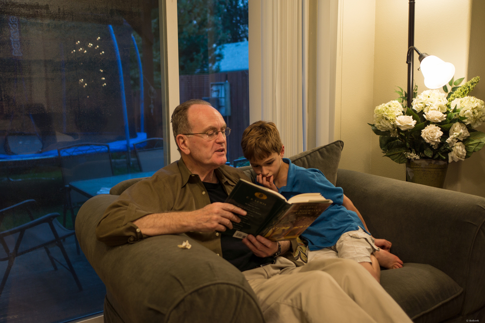 Reading with Dr. G | 365 Project | September 15th, 2013 | 24mm, f/1.8, ISO 100, 1/20