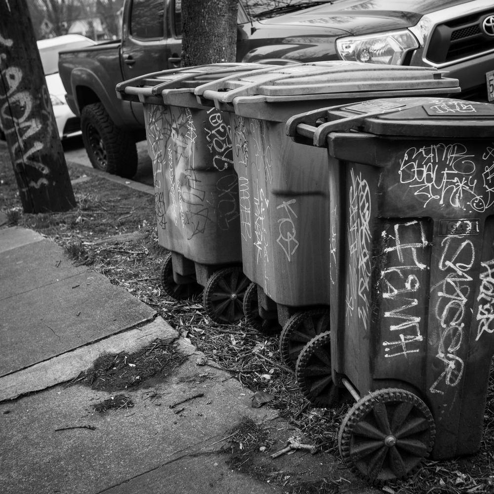 Even Trash Cans Can't Catch a Break | 24mm, f/2.8, ISO 100, 1/160