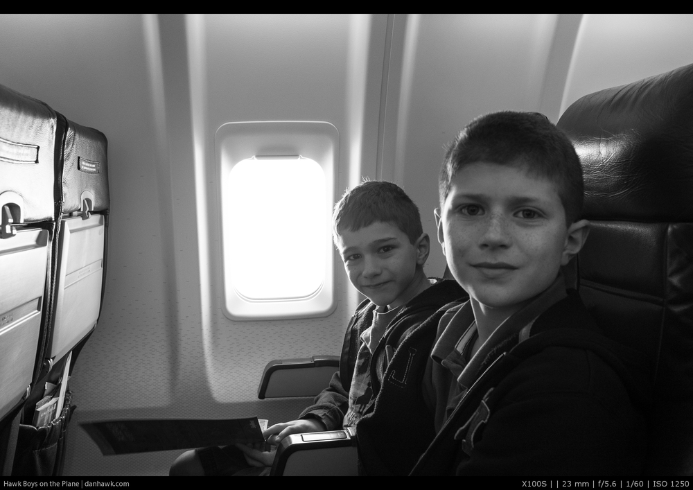 Hawk Boys on the Plane