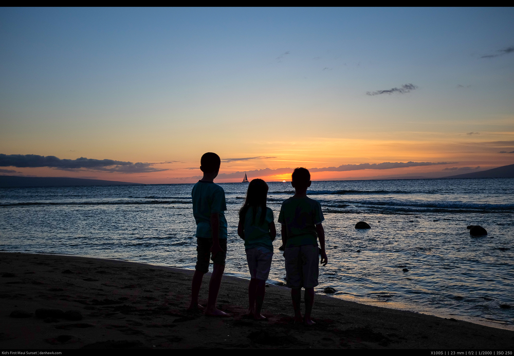 Kid's First Maui Sunset