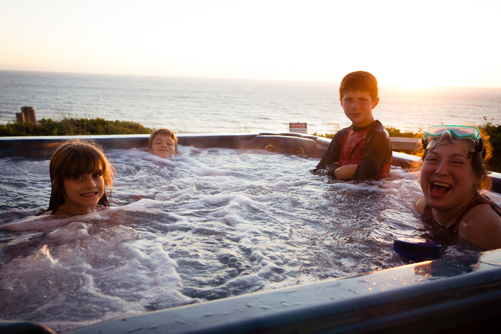 Hot Tub Sunset