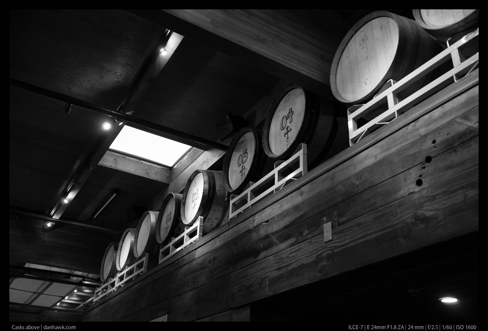 Casks above