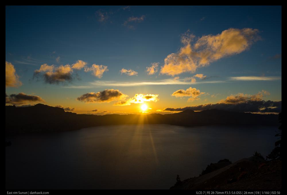 East rim Sunset