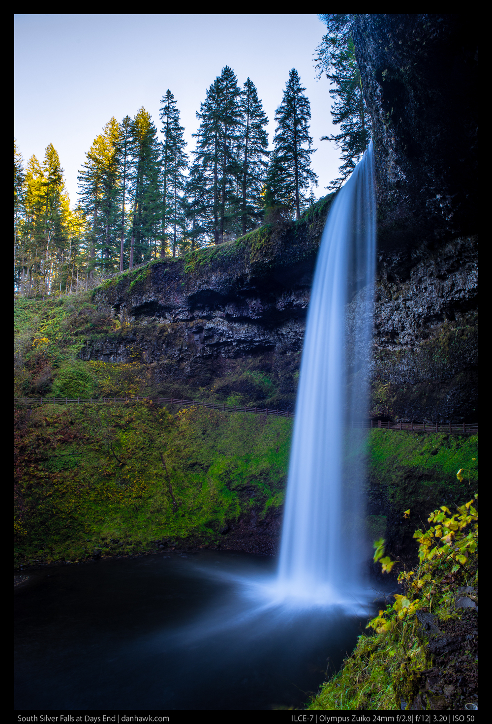 South Silver Falls at Days End