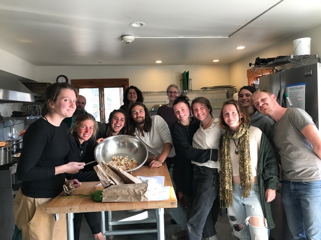 Fall Wildcrafting Class, Green Mountain College 2018