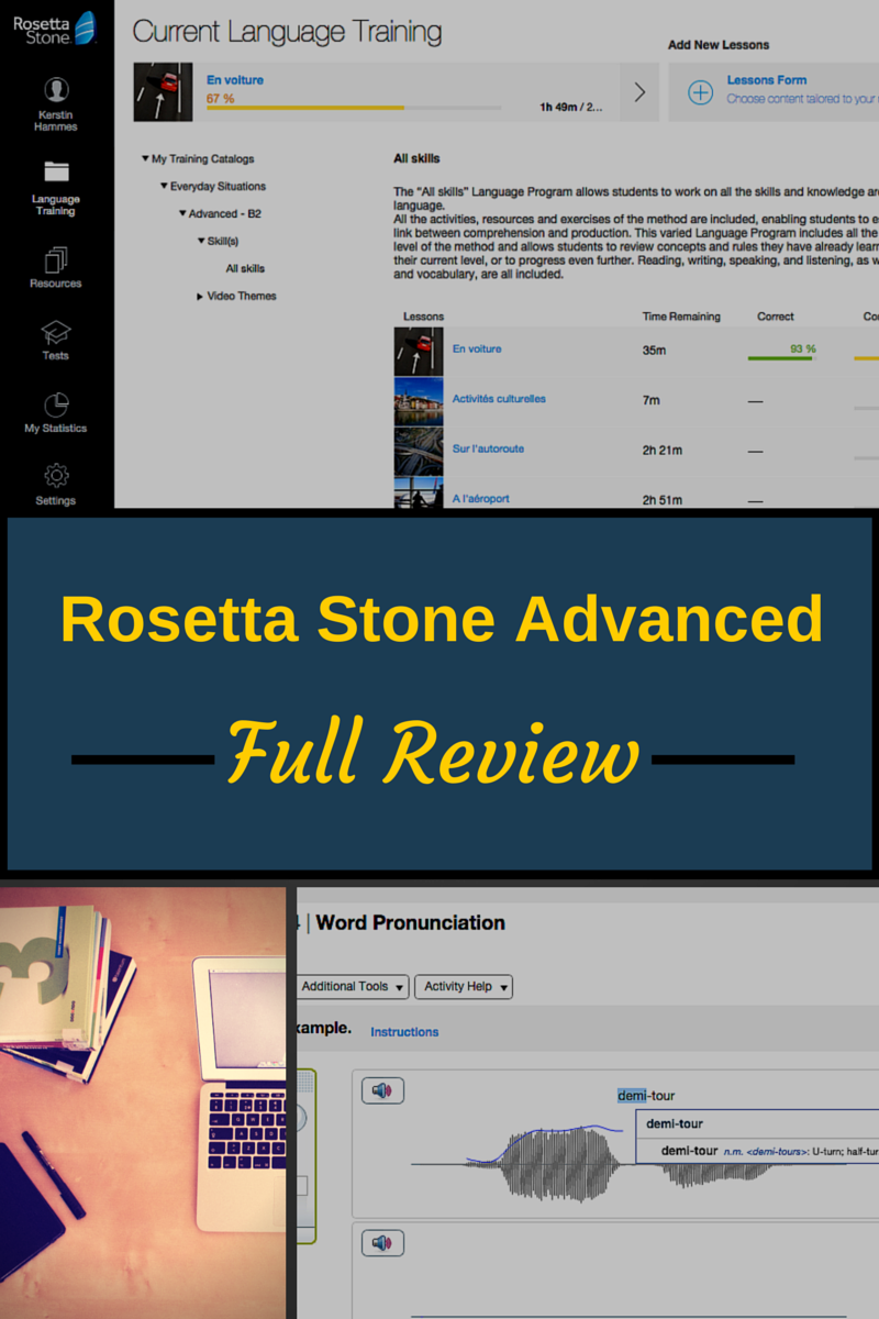 Full Review and Screenshots of Rosetta Stone Tell Me More/Advanced