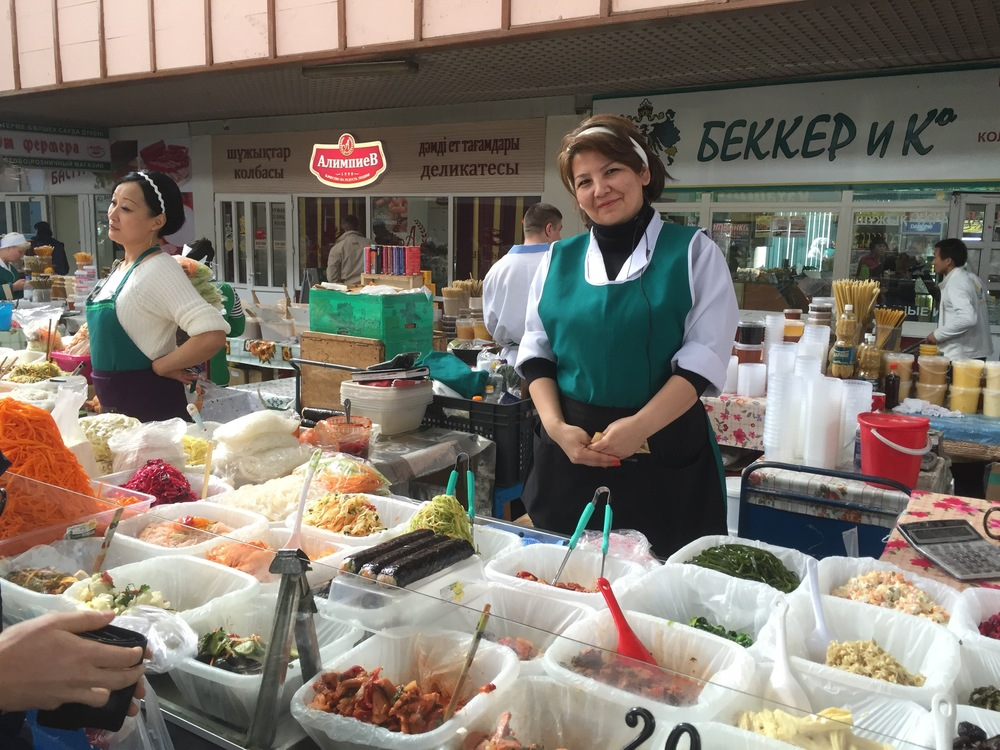 "Here is my favourite ""salad lady"" from the Green Bazaar."