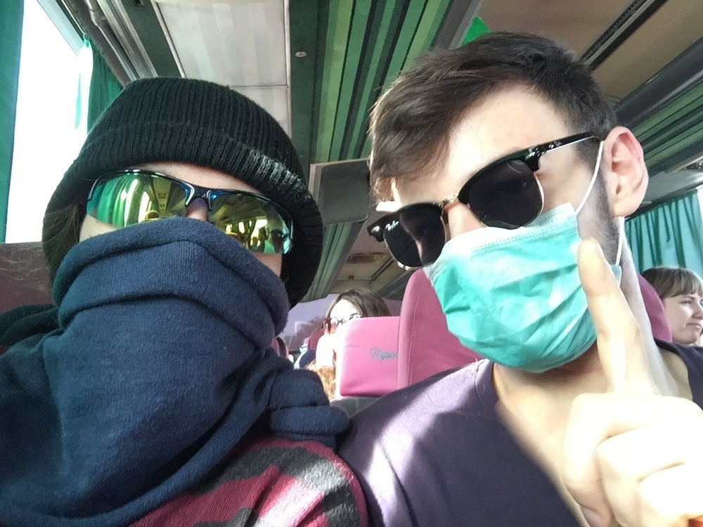 Your travelling fools. There is a lot of pollution and dust in Almaty