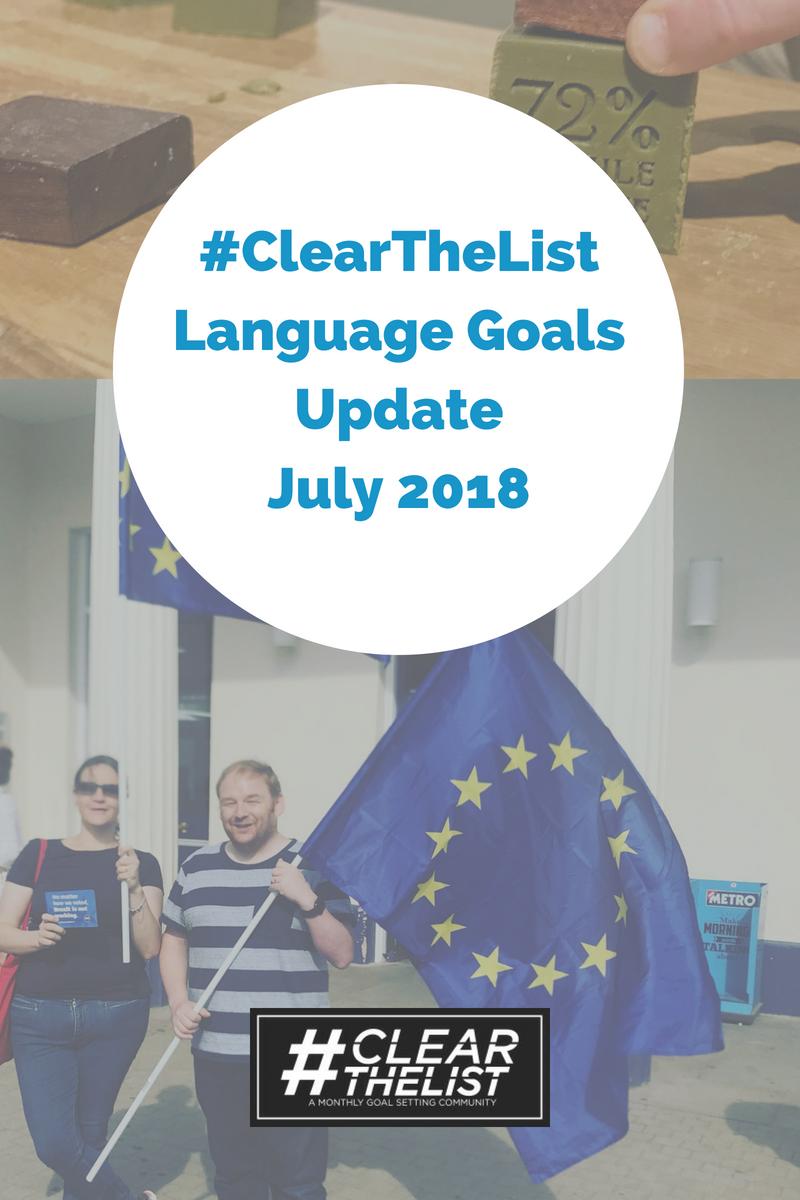 language goals 2018 july