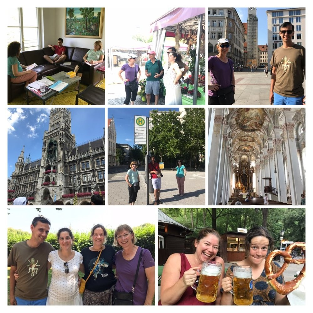 german language retreat collage
