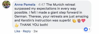 german retreat feedback