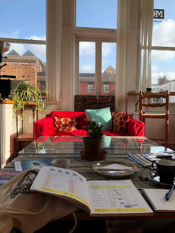 A local café - perfect study space