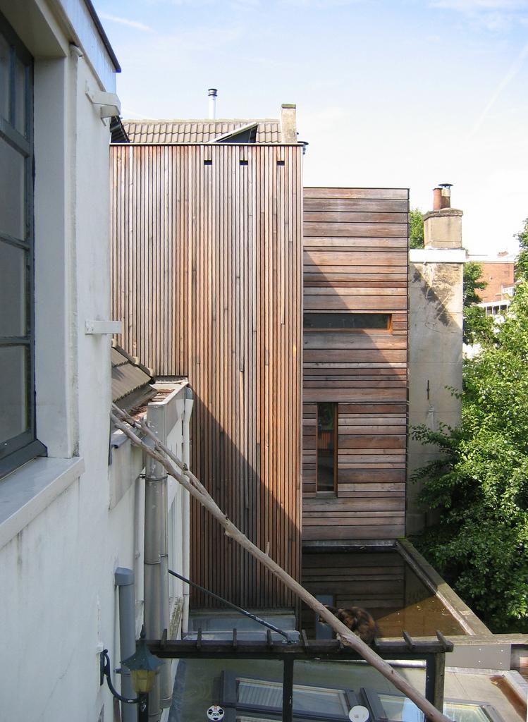 Houten achterhuis Bellamystraat 80 Amsterdam