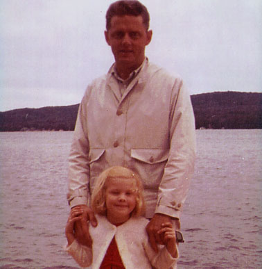 Dad & me in Maine 1964.
