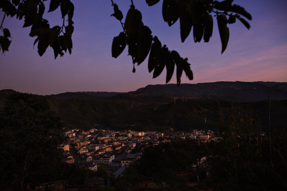 Laiza is seen from a nearby mountain December 29, 2012 in Laiza, Kachin State in northern Myanmar. Laiza town is bordering the Chinese town of Nabang, just across a small river.