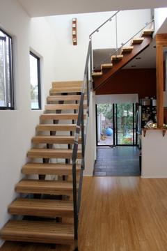 Custom staircase by Ten Gallon Hat Designs